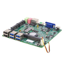 Placa-mãe mini itx intel core i5 4200u hd gráficos 4400 ddr3l msata 6 * usb vga hdmi wifi gigabit lan dc 12 v 5a mini mainboard(China)