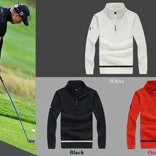 C мужской спортивный свитер с длинным рукавом для гольфа, 3 цвета, одежда для гольфа, S-XXL
