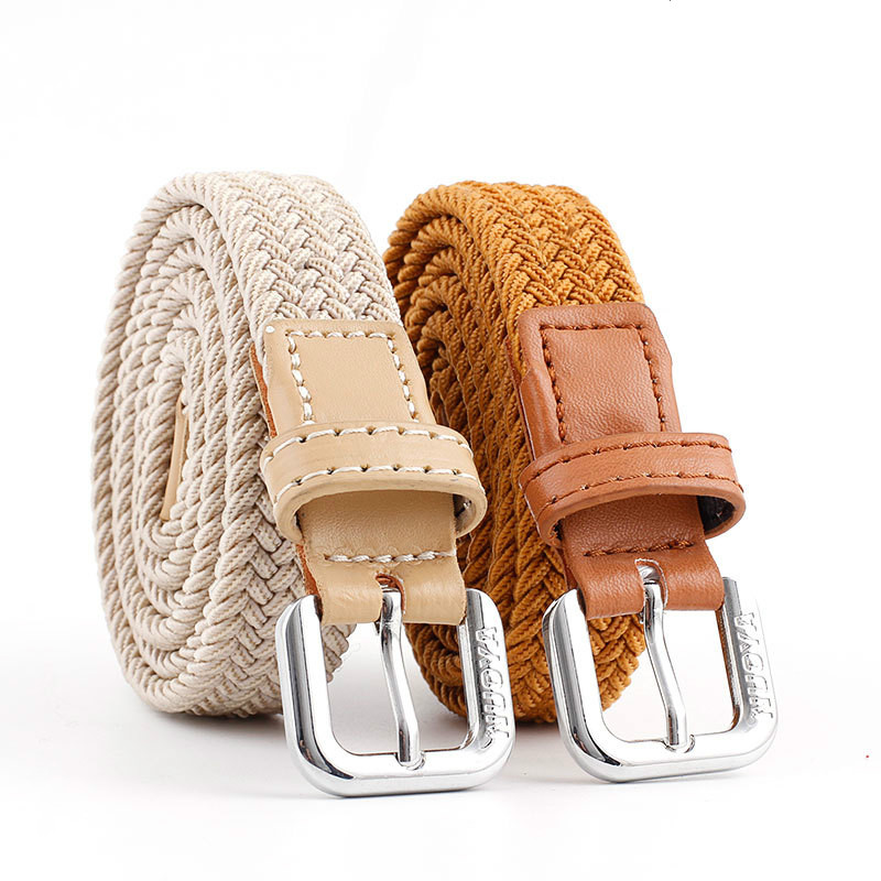 New Children Stretch Woven Belt Kid Elastic Belts Waistband Casual Solid Jeans Belts For Girl Boy Knitted Belt Designer Belts