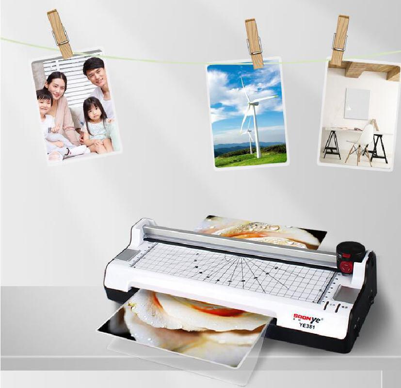 A3 fotoğraf kağıdı sıcak ve soğuk termal laminasyon makinesi hızlı sıcak hızlı laminasyon hızı ab fişi ile çok fonksiyonlu fonksiyonlar