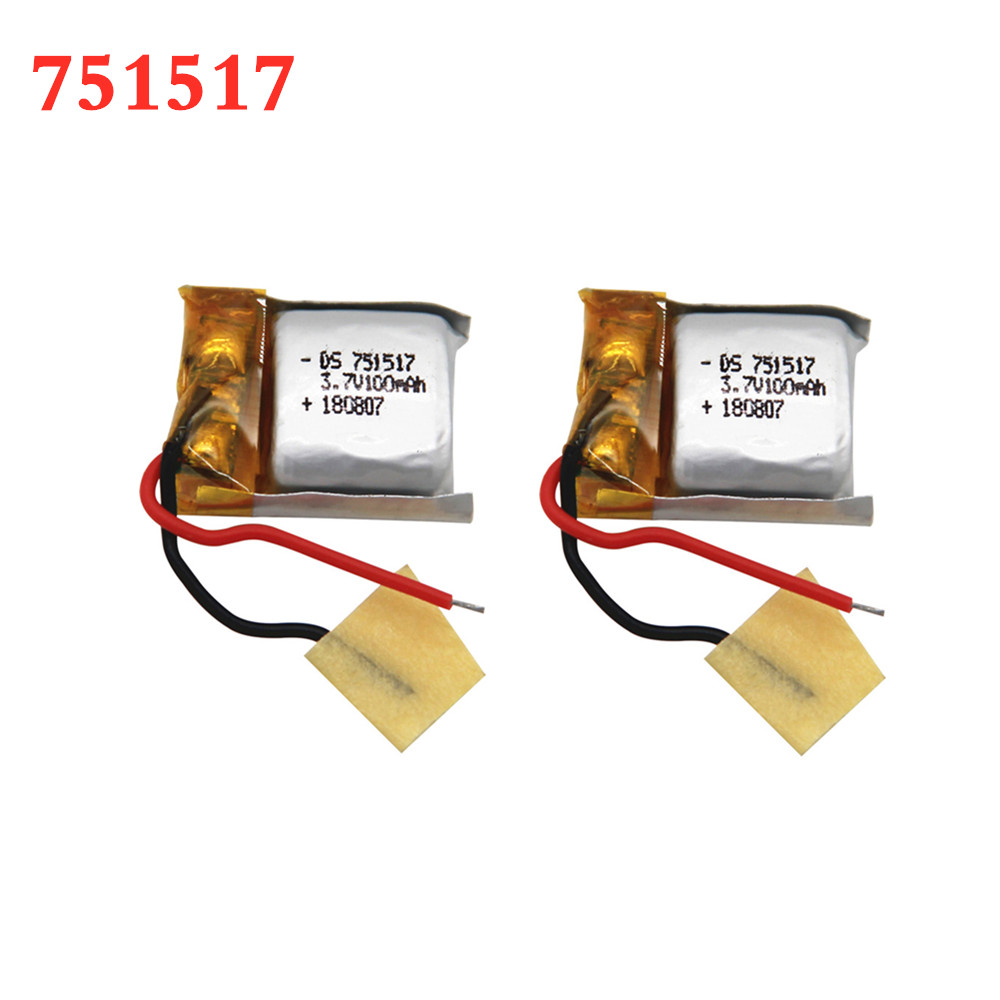 3,7 в 100 мАч 751517 литий-полимерная аккумуляторная батарея CX-10 JJ810 с дистанционным управлением 3,7 в, аккумуляторная батарея от 1 шт. до 10 шт.