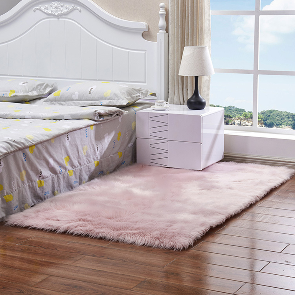 Carpet Area-Rug Decoration Bedroom Faux-Fur Floor Living-Room Hallway Fluffy Soft Home