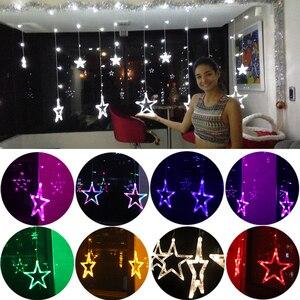 Image 5 - 2020 Đèn LED Mới Dây Đèn Pentagram Ngôi Sao Màn Đèn Cổ Tích Đám Cưới Sinh Nhật Giáng Sinh Chiếu Sáng Trong Nhà Đèn Trang Trí