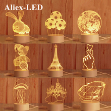 Novelty 3D Printing Lamp 2020 NEW Decorative Led Night Light Children's Bedroom Decor Cartoon Table Lamps for Christmas Gift