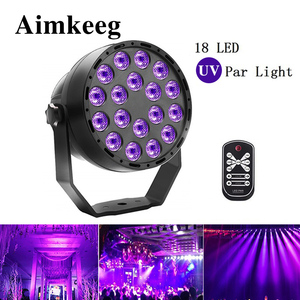 Image 1 - Aimkeeg 18 LED UV lighting effects Professional Stage Light Disco DJ Projector Machine Party with Wireless Remote Control