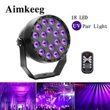 Aimkeeg 18 led uv照明エフェクトステージライトディスコdjプロジェクター機パーティーとワイヤレスリモコン