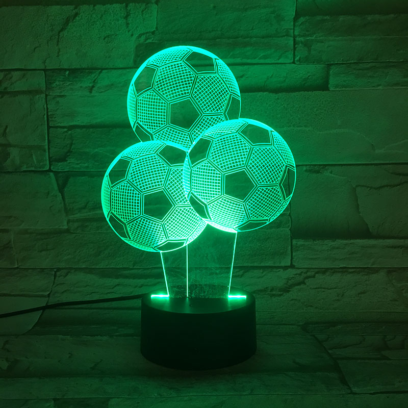 Kids 3d Lamp Football Led Night Light C Ronaldo Home Deocration Luminaria Child Boy Birthday Gift Messi Table Nightlight Soccer image