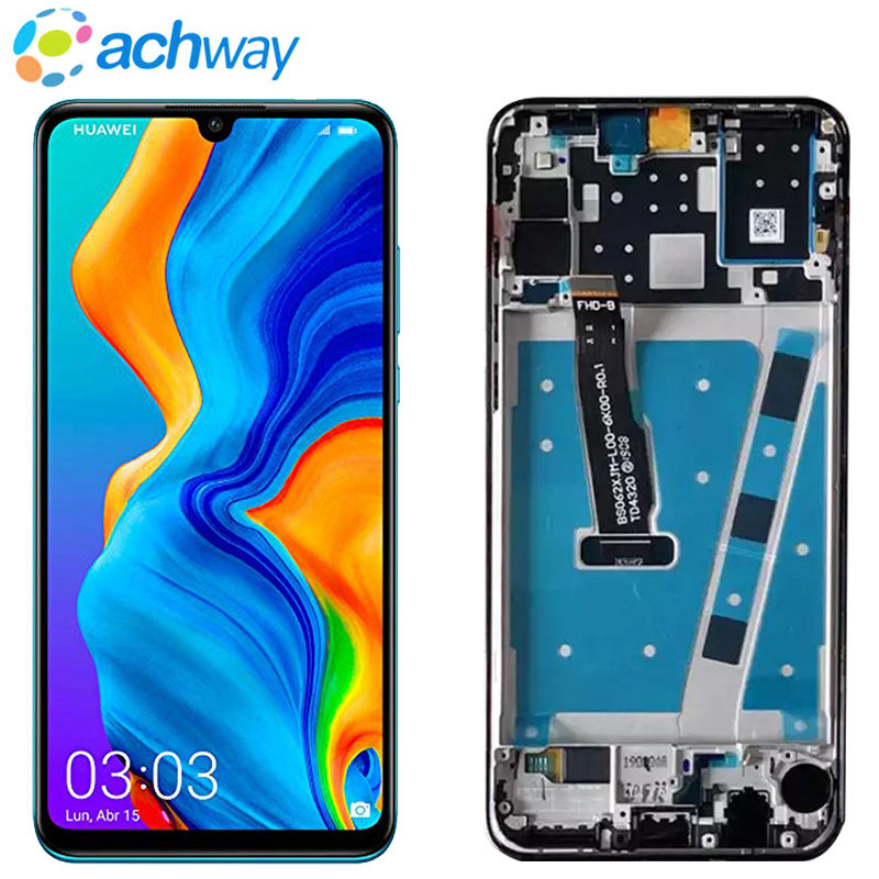 Original <font><b>LCD</b></font> With Frame For HUAWEI <font><b>P30</b></font> Lite <font><b>Lcd</b></font> Display Screen For HUAWEI <font><b>P30</b></font> Lite Screen Nova 4e MAR-LX1 LX2 AL01Replacement image