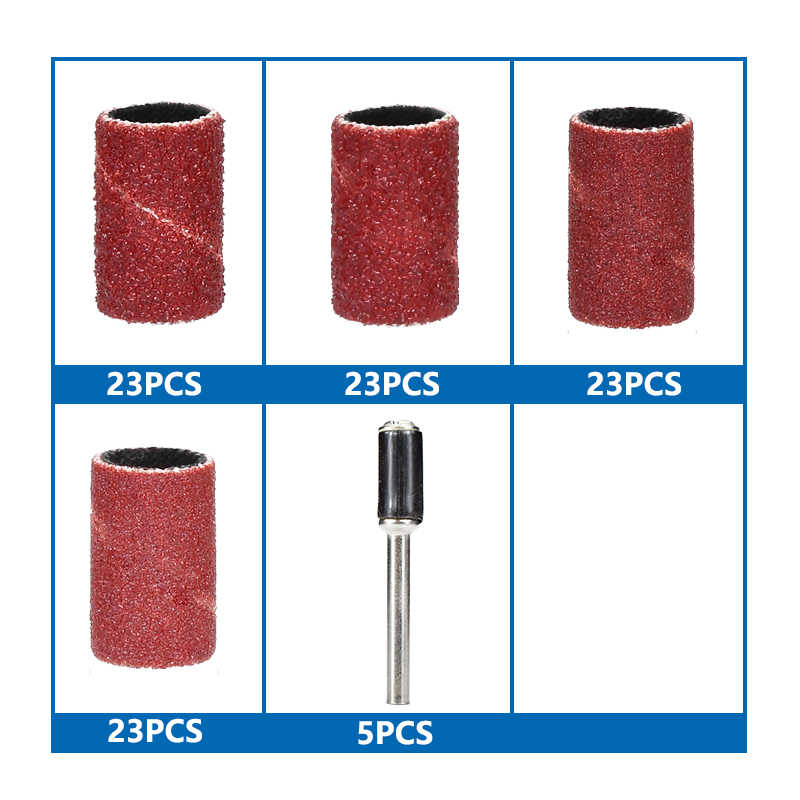 Sanding Drum Kit 97pcs 60//120//240//360 Grit For Dremel Rotary Accessories Tools