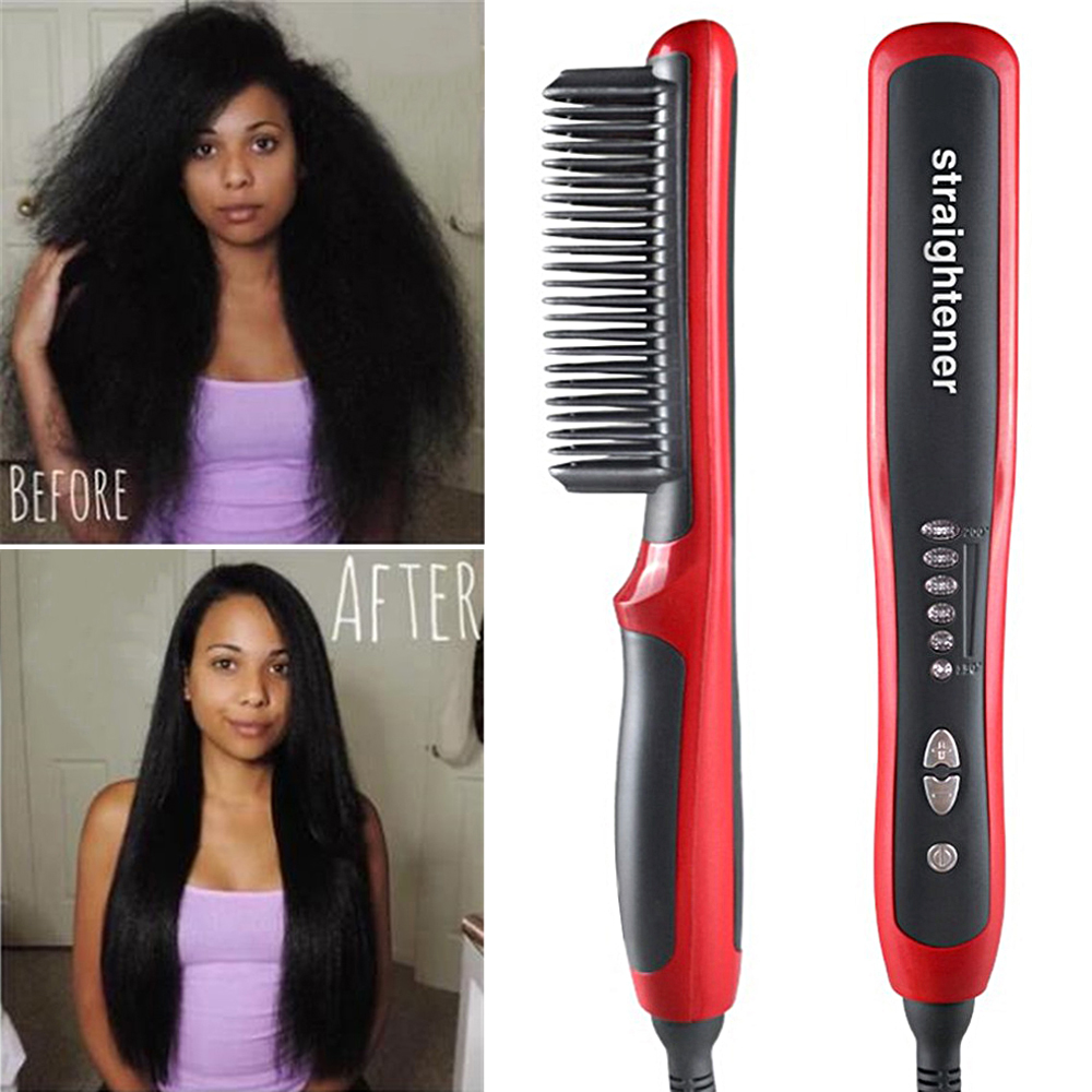 Electric Beard Comb Men Quick Beard Straightener Styler Comb Multifunctional Beard Straightening Heat Brush Hot Comb for Men Straightening Irons    - AliExpress