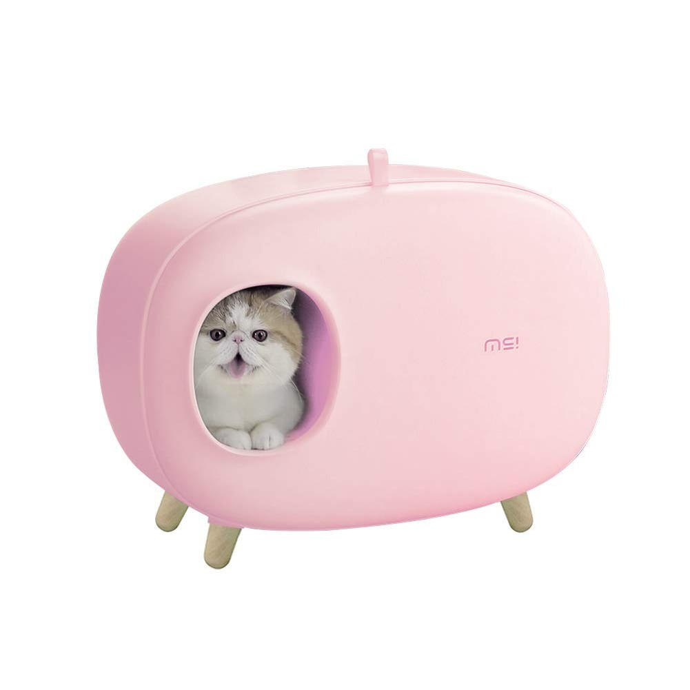 Cat Litter Box Enclosed Design Luxury Cat Litter Box With Cat Litter Scoop For Cats Dog  Easy To Clean Pet Toilet Litter Tray