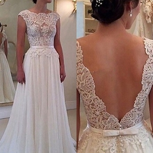 Винтажное свадебное платье с открытой спиной es шифоновое ТРАПЕЦИЕВИДНОЕ свадебное платье без рукавов с аппликацией с коротким шлейфом