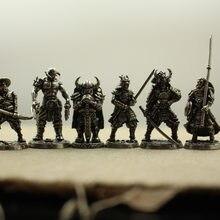 Branco de cobre japonês shogunate samurai estatuetas miniaturas do vintage metal soldados modelo estátua desktop brinquedo ornamento decoração