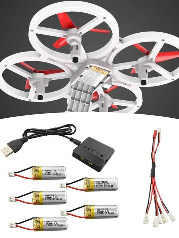3.7V 180 Mah Lithium Batterij Met 5 In 1 Opladen Conversie Kabel Voor A20 A20W Vier-As Drone afstandsbediening Helicopter Onderdelen