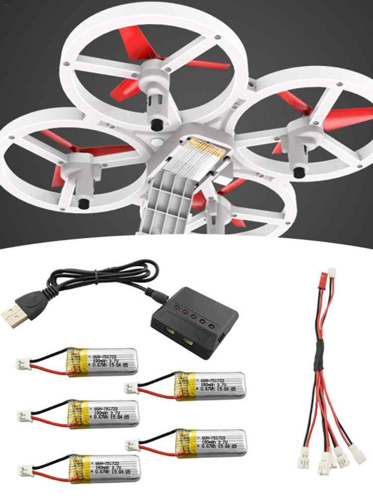 Batería de litio 3,7 V 180mAh con 5 en 1 Cable de conversión de carga para A20 A20W de cuatro ejes Drone de Control remoto helicóptero de repuesto