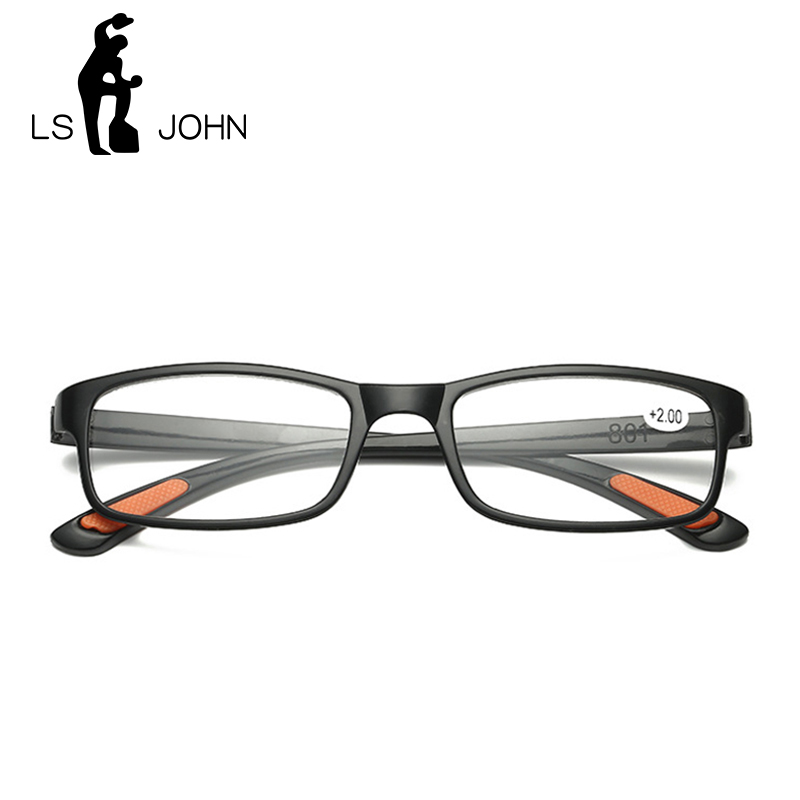 LS JOHN Ultra-light Foldable Reading Glasses Brand Women&Men Anti-drop Reading Magnifying Presbyopic Glasses oculos gafas Eye Sight Glasses Goggles Home, Pets and Appliances 7fbb8c2a551aaaea0fd30c: +100|+150|+200|+250|+300|+350|+400