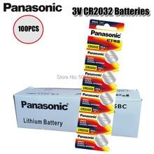 Оригинальный PANASONIC 100 шт./лот cr2032 совершенно новые батарейки 3 в монета литиевые игрушки, калькуляторы cr 2032