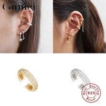 925 srebro klipsy Earcuff luksusowe AAAAA cyrkonią kolczyki dla kobiet wróżka klip na małżowinę na kolczyk Fine Jewelry W4