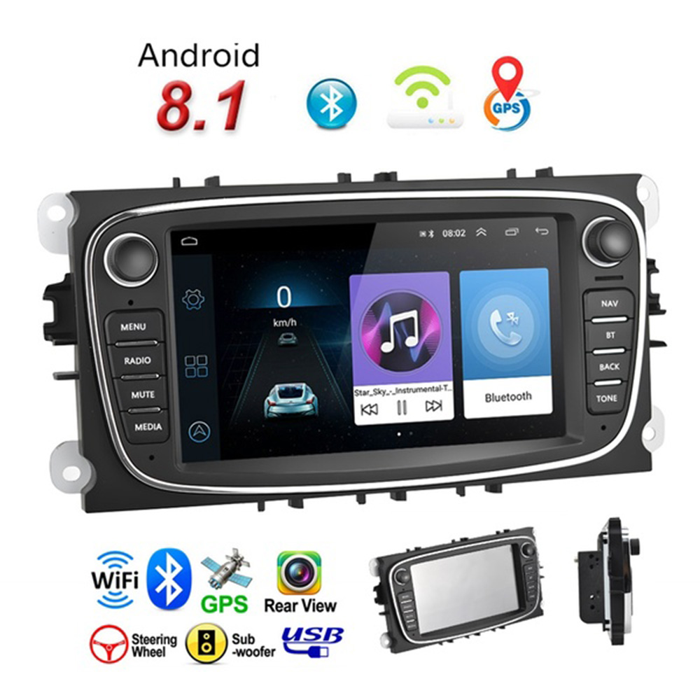 Vehemo Multimedia player Auto DVR Kamera 7 Android 8.1 MP5 Spielen Radio WiFi 2 din Für Ford/Focus/ s Max/Mondeo 9/GalaxyC Max GPS - 4
