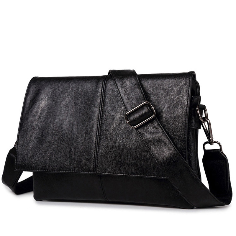 Brand Men Briefcase PU Leather Messenger Bag Simple Business Casual Travel Tote Man Crossbody Briefcases Laptop Shoulder Bags