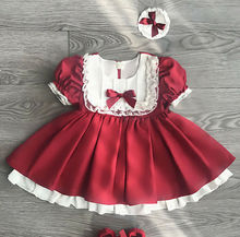 Toddler Kids Baby Girls Prom Bowknot Tutu Dress For Summer Lace Retro Xmas Party Pageant Bridesmaid Princess Formal Gown Dress kids girls lace flower bow formal party ball gown prom princess bridesmaid wedding children tutu dress fashion grown