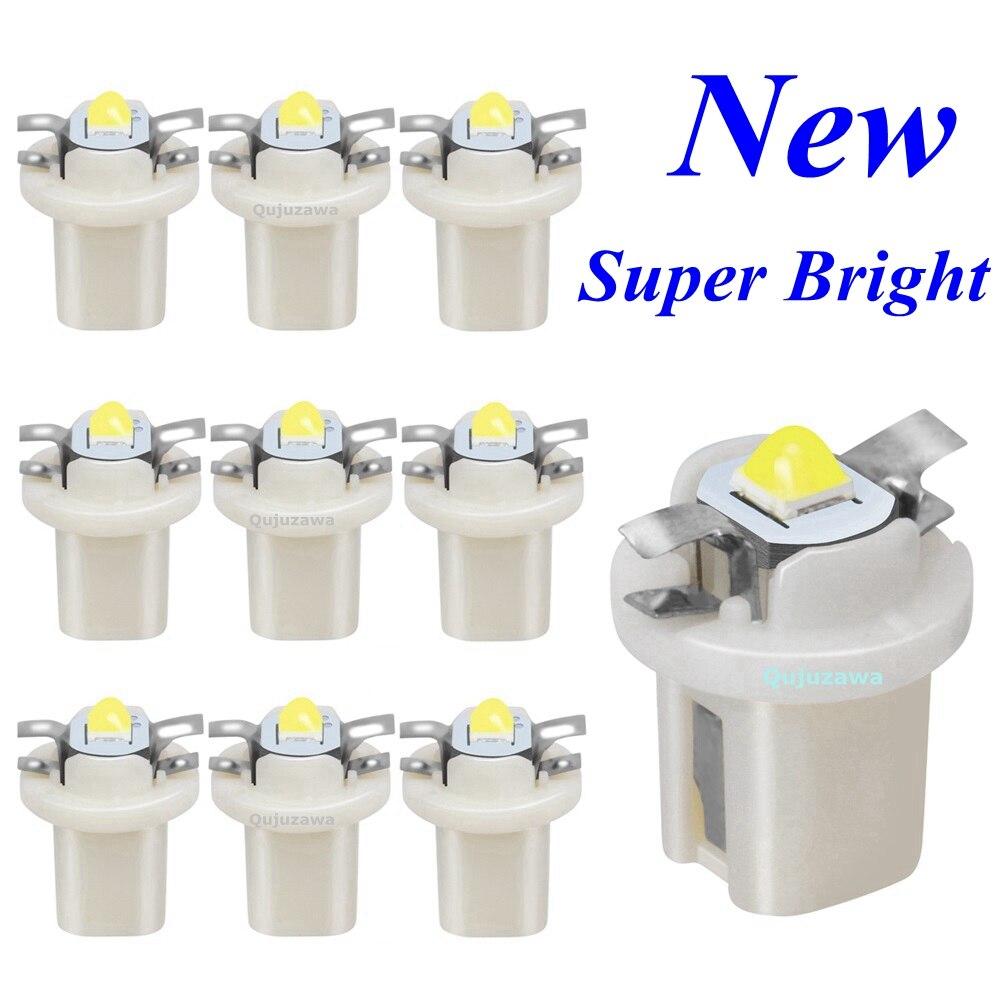 10 шт. Новый B8.5D 509T B8.5 T5 супер яркий светодиодный индикатор приборной панели автомобиля Speedo Dash лампа авто приборная панель инструмент кластер...