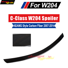 цена на W204 Tail lip spoiler AEAMG Style Carbon For Mercedes Benz C180 C200 C250 C300 C350 4 Door Car Rear Trunk lip spoiler wing 07-14