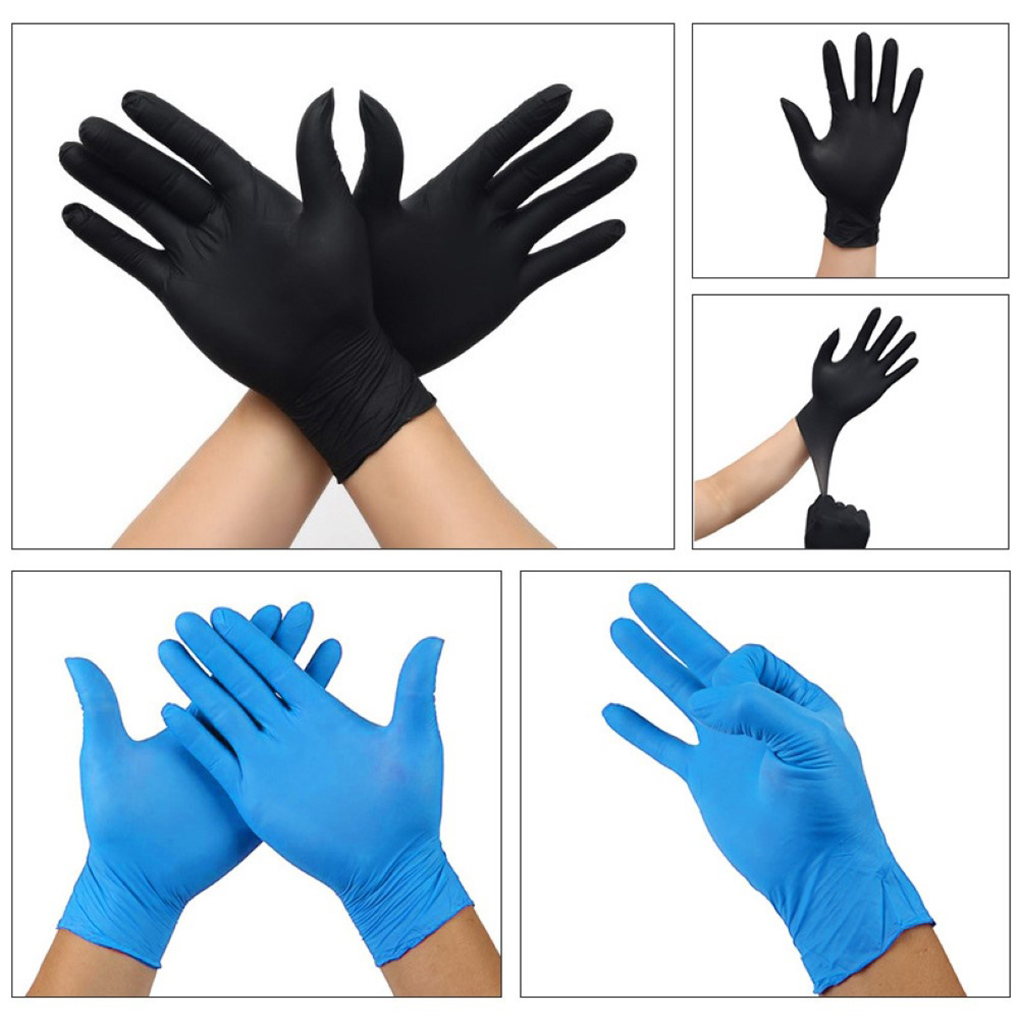 50 Pair/Set Disposable Non-Slip Glove Food Grade Disposable Gloves Kitchen Garden Tool Waterproof Nitrile Wear-Resistant Gloves