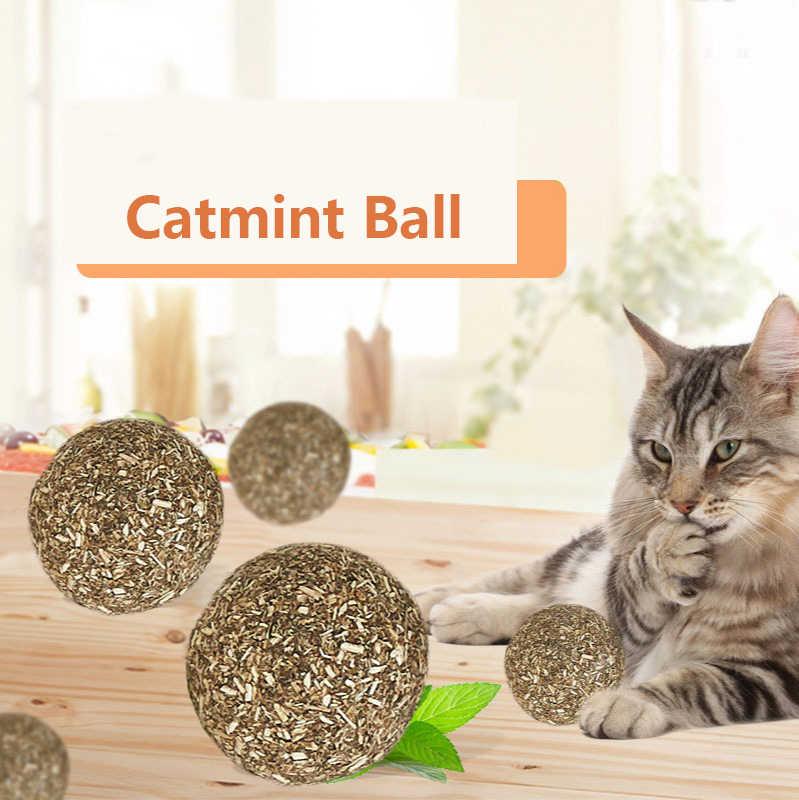 Menthe à chat jouet balle dent nettoyage molaire apaisant humeur amusant chat jouet menthe à chat balle chat collations cataire