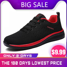 Cheap mens sneakers shoes breathable mens trainers casual mesh shoe walking shoes summer sneakers for men(China)