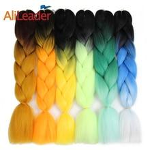 AliLeader Xpressions Kanekalon Hair Crochet Braids Pink Purple Braiding Hair, 24 Inch 100G Synthetic Extension Jumbo Braid