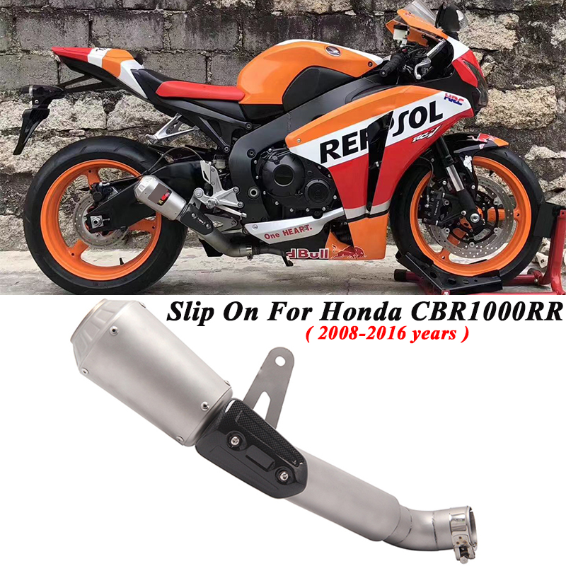 Slip On For Honda <font><b>CBR1000RR</b></font> <font><b>2008</b></font> - 2016 U.S. Edition Motorcycle <font><b>Exhaust</b></font> Escape Modified Moto Muffler Middle Connection Link Pipe image