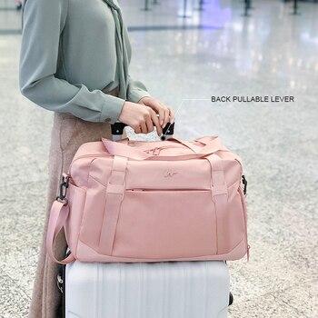 Pink Crossbody Shoulder Handbag Gym Sport Bag Men For Gym Women Fitness Bag Travel Training Bags Yoga Mat Bag Sac De Sport 4