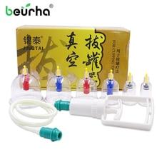 6 банок китайские вакуумные чашки комплект для постановки банок выдвижной вакуумный аппарат терапия расслабляющий массаж кривые всасывающие насосы для здорового ухода