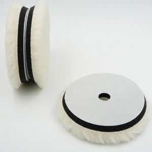 "Image 2 - 1pc 6""/7"" Wool Polishing Pad For Polisher Machine Waxing Polishing Buffing Car Paint Care Polisher Pads For Car Polisher Car Bea"