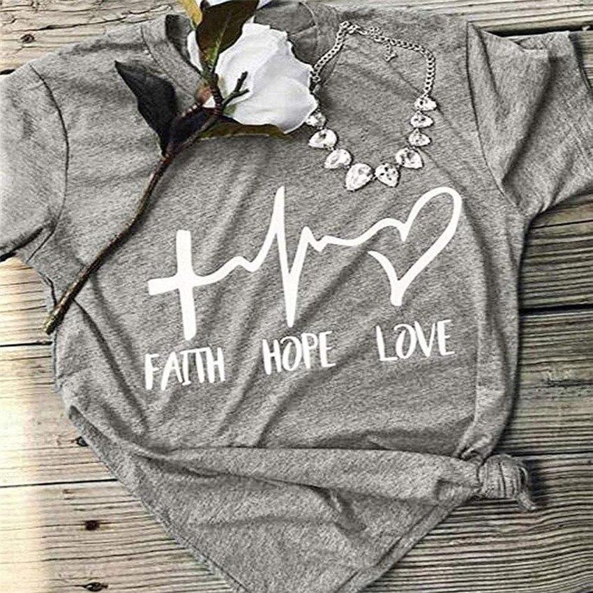 Heart Print Tops Tee Casual Women T-shirt Summer Letter Tees Fashoin Female Loose Top Lady T Shirt Femme Tshirt