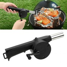Air-Blower Barbecue-Fire-Bellows Outdoor Cooking Mini Portable Crank-Tool BBQ Camping
