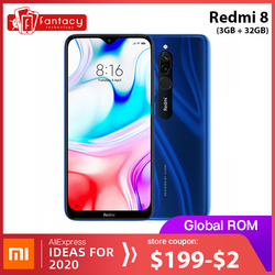 Global Rom Xiaomi Redmi 8 3GB 32GB Snapdragon 439 Octa Core Cellphone 12MP Dual Camera 5000mAh Large Battery Mobile Phone