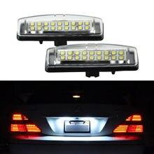 2 шт светодиодный Подсветка регистрационного номера для lexus