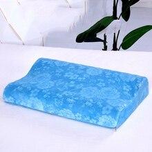 1 шт. Ортопедическая подушка с эффектом памяти для ухода за шейным позвоночником для уменьшения боли в шее терапевтический массаж шеи и плеч Расслабляющая подушка