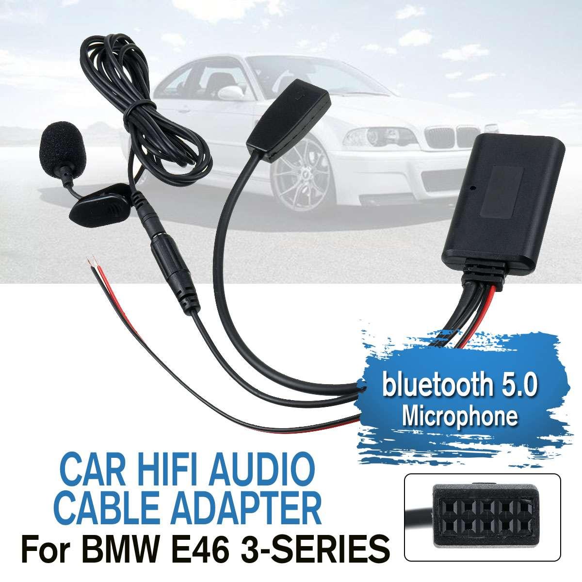 Car Audio Bluetooth 5.0 Music HIFI Cable Adaptor Microphone For BMW E46 3-SERIES 2002-2006