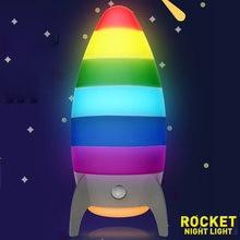 Креативная rgb лампа с датчиком движения меняющим цвет детские