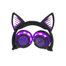 Cat Ears Global Luminescence Rechargeable Wireless Mobile Phone Computer Head-mounted Folding Headphones(China)