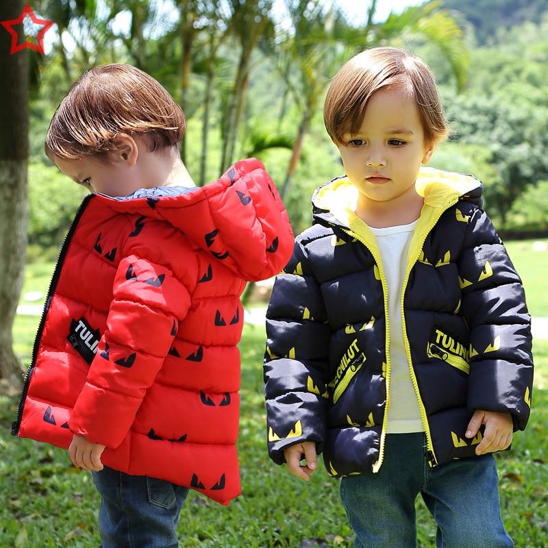 Winter Coat Baby Girls Jacket Kids Winter Warm Outerwear Children Hooded Coat