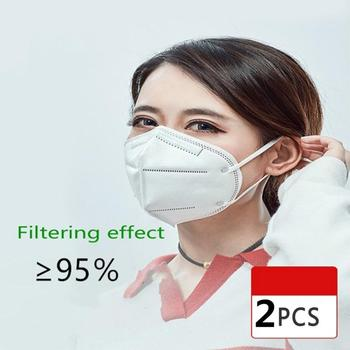 2Pcs Pm2.5 Dust Masks Reusable FFP2 FFP3 KN95 Mask Face Mask N95 Protection Face Mask Mouth Cover Filter Dust Proof Protection 1