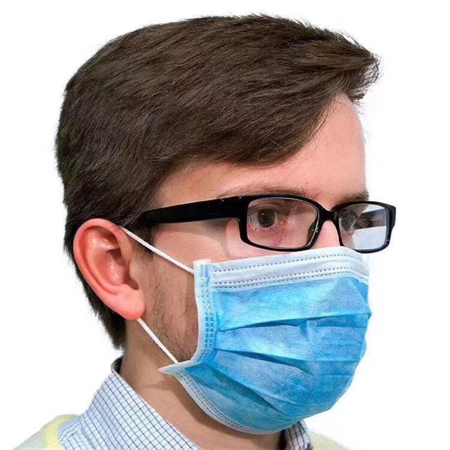 Face Mouth Anti Dust Mask Disposable Protect 3 Layers Filter Masks (not KN95 ) Mouth-muffle Bacteria Proof Flu Mask 5