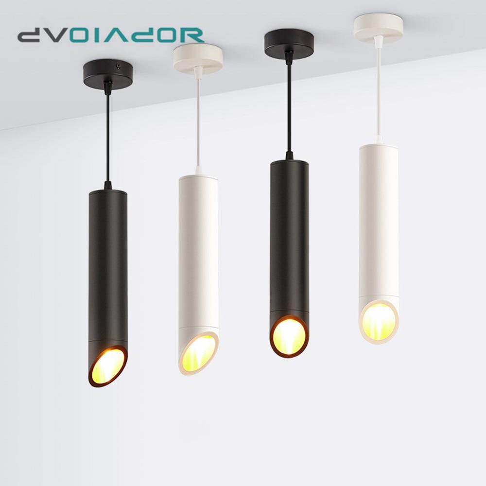 Pendant Lamp Long Tube Pendant Lights Nordic Lighting Kitchen Fixtures 7W Living Room Restaraunt Bar Loft Cafe Hanging Lamp