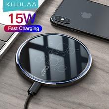KUULAA 15W Qi kablosuz şarj Xiaomi Mi 9 Pro ayna kablosuz şarj Pad hızlı şarj iPhone 11 X XS Max XR 8 artı