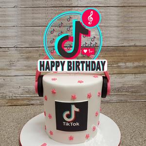 Happy Birthday Cake Topper TT Music Themed Party Favor Cakes Deserts Fruits Decorations