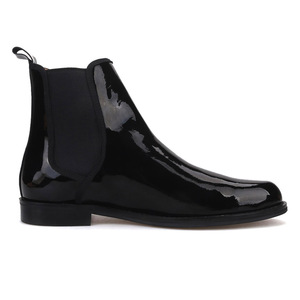 Image 4 - Piergitar 2019 British classic Black Patent leather Men Chelsea Boots Winter style handcrafted Mens casual boots plus size